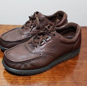 SAS Mens Pathfinder Brown Leather Walking Tripad